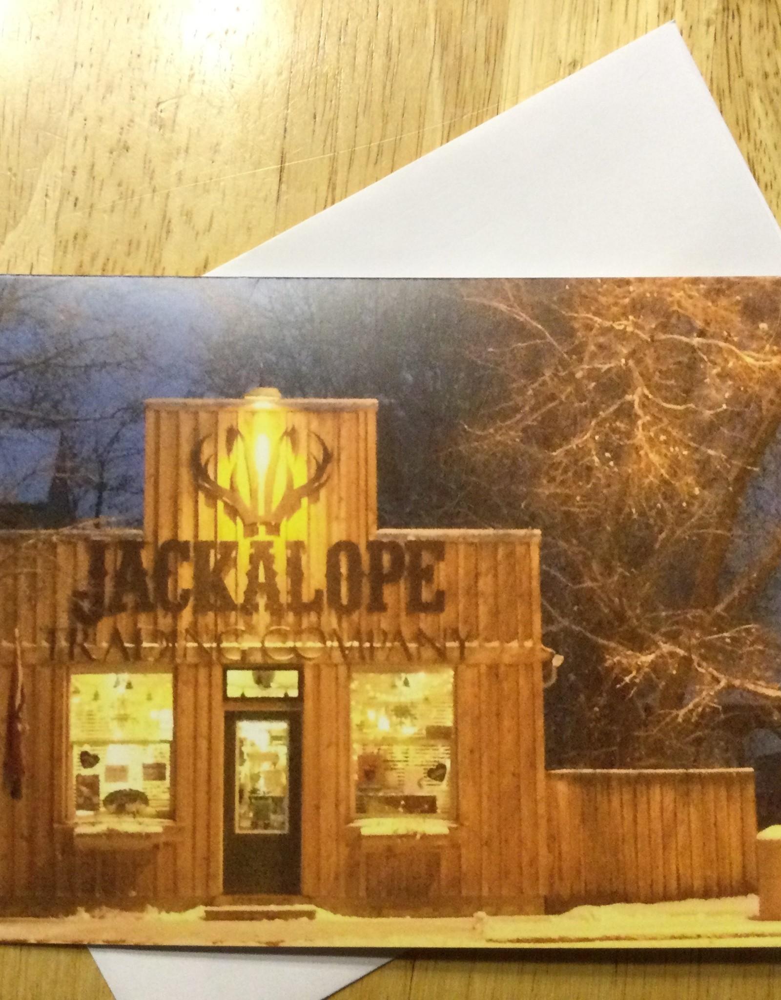 Note Card, Jackalope (Winter)