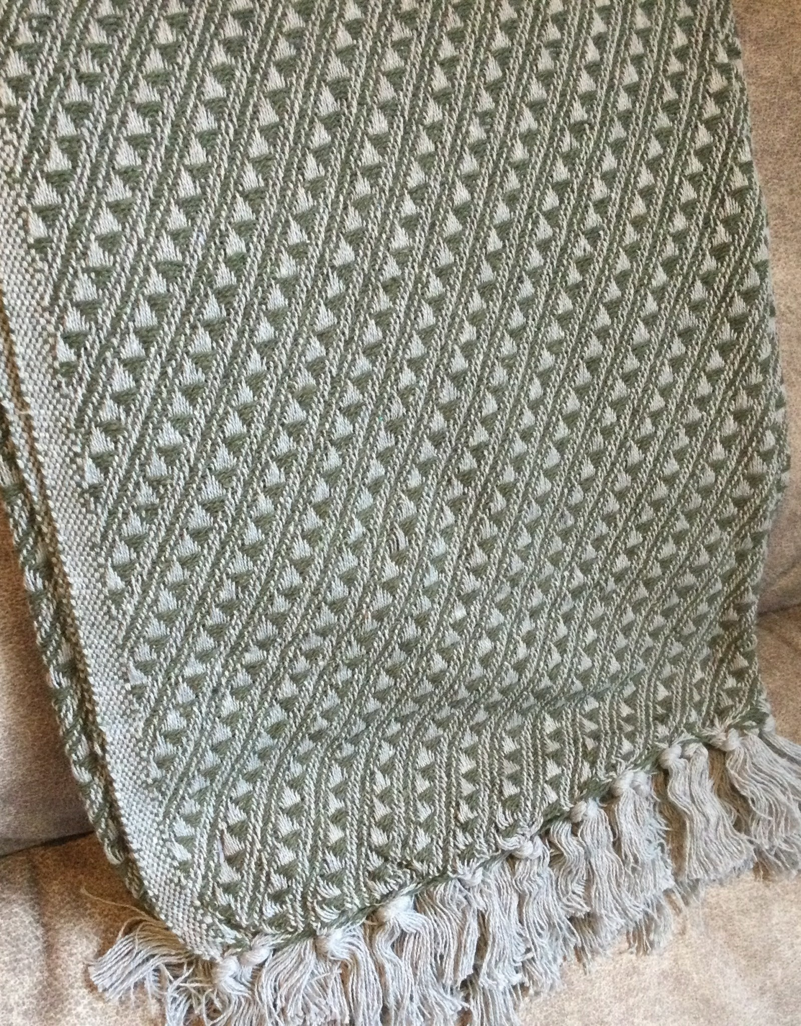 Blanket, Patterned Cotton Throw