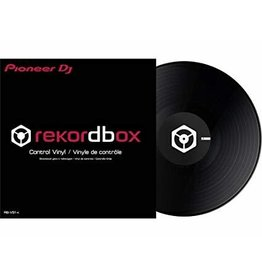 "12"" Black Control Vinyl for Rekordbox DJ (Single)- Pioneer DJ"
