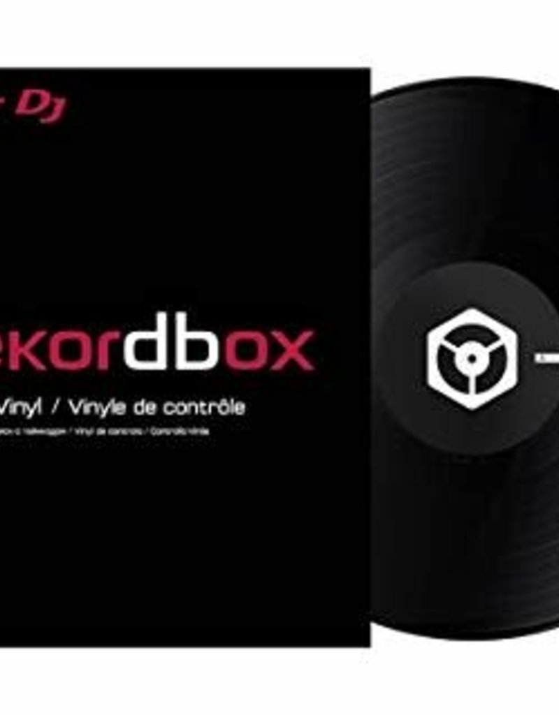 "12"" Black Control Vinyl for Rekordbox DJ (Single)- Pioneer DJ"