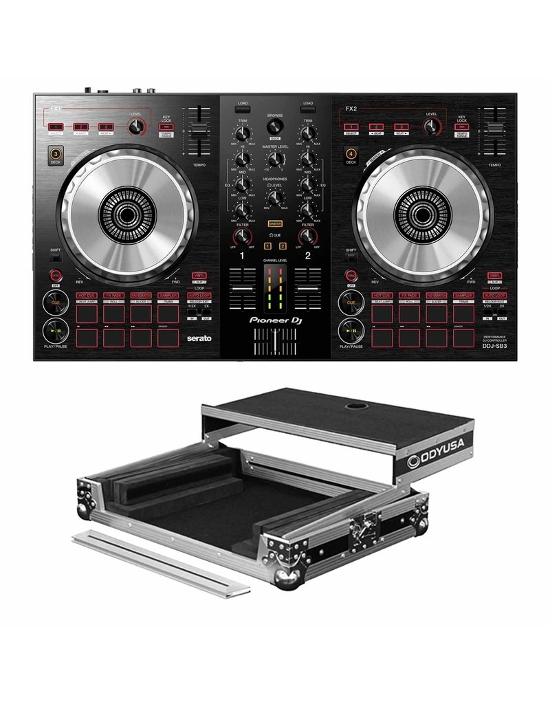 Pioneer DJ DDJ-SB3 2- channel DJ Controller and Odyssey Case Package