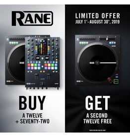 Rane - BUY 2 GET 1 FREE! 72 MIXER + 2X TWELVES!!