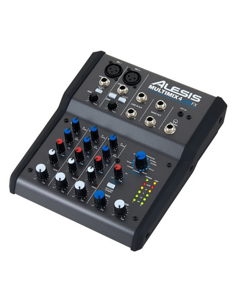 MultiMix 4 USB FX Four-Channel Mixer with USB Digital Audio Interface: Alesis