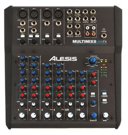 Alesis MultiMix 8 USB FX 8 Channel Mixer with Effects & USB Audio Interface