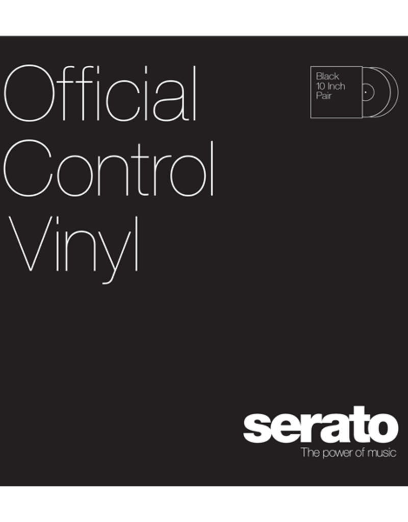 """10"""" Black Serato Control Vinyl (Pair)"""