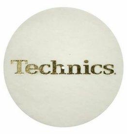 Technics Gold Logo on White Slipmats (Pair)