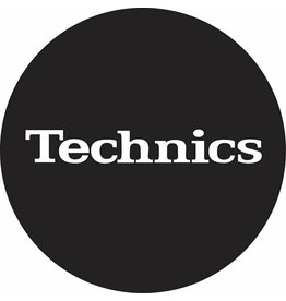 Technics Classic Logo in White on Black Slipmats (Pair)
