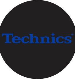 Technics Classic Logo in Electric Blue Slipmats (Pair)