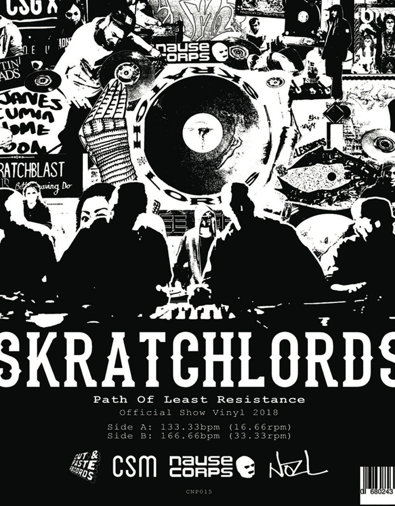 "Cut & Paste Path of Least Resistance: The Skratchlords 12"" Scratch Record - Cut & Paste Records"