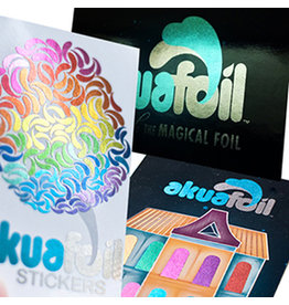 "1.5"" X 3.5"" Stickers w/ Akuafoil With UV (500)"