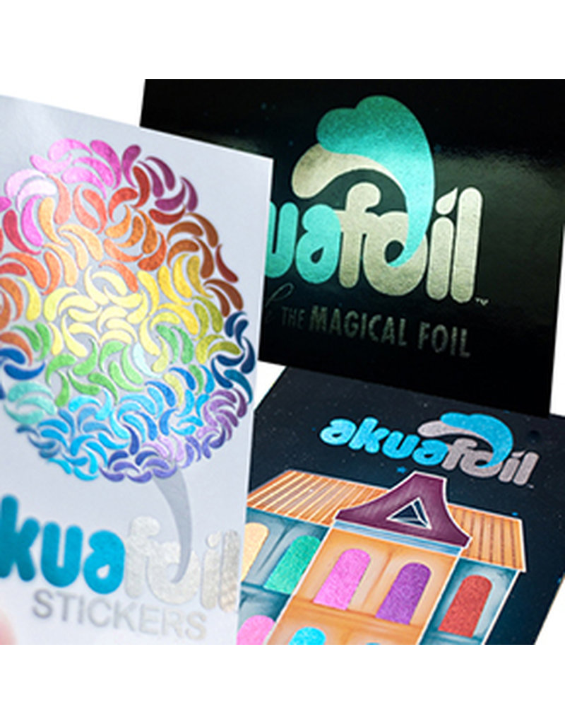 "4"" x 4"" Stickers w/ Akuafoil With UV (500)"