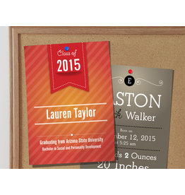 "4.25"" X 6"" 16PT Suede Announcement Cards w/ Soft Velvet Lamination No UV (500)"