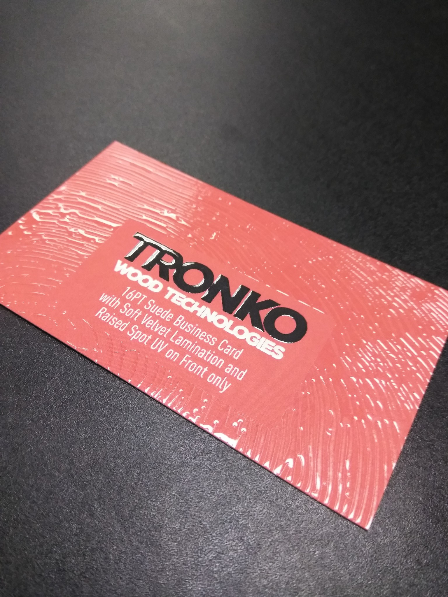 2 X 3 5 16pt Suede Business Cards W