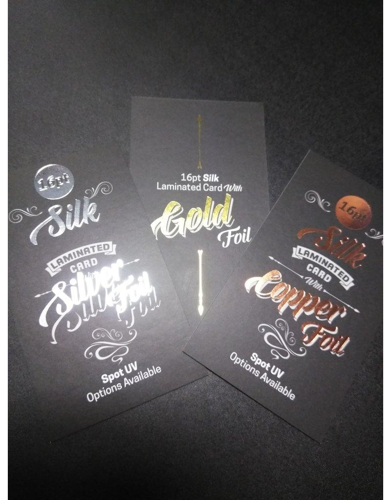 "2"" X 3.5"" 16PT Silk Laminated Round Corner Business Cards w/ Spot UV on the back (500)"