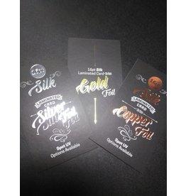 "2"" x 3.5"" 16PT Silk Laminated Foiled Business Cards No UV (500)"