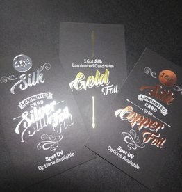 """Mile High DJ Supply 2"""" x 3.5"""" 16PT Silk Laminated Foiled Business Cards Spot UV on the back (500)"""