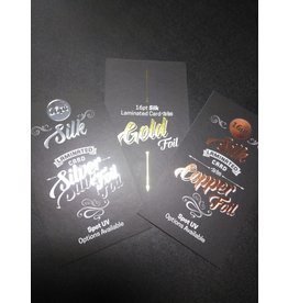 "2"" x 3.5"" 16PT Silk Laminated Rounded Corners Foiled Business Cards, Spot UV on both sides (500)"