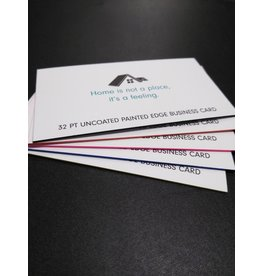 "2"" X 3.5"" 32PT Uncoated Painted EDGE Business Cards (250)"