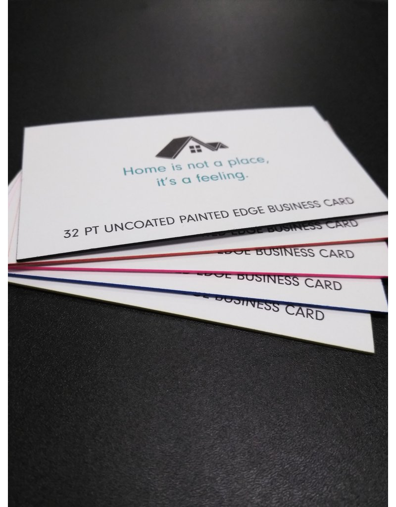 """Mile High DJ Supply 2"""" X 3.5"""" 32PT Uncoated Painted EDGE Business Cards (250)"""