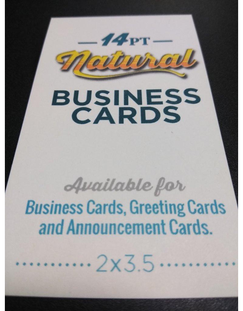 "Mile High DJ Supply 2"" X 3.5"" 14pt Natural Uncoated Round Corner Business Cards (100)"