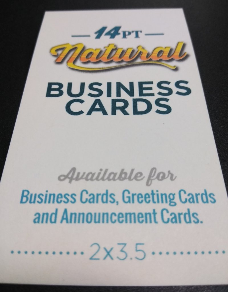 """Mile High DJ Supply 2"""" X 3.5"""" 14pt Natural Uncoated Business Cards (100)"""