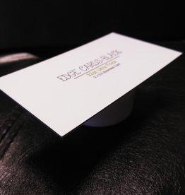 "Mile High DJ Supply 2"" X 3.5"" 32PT Uncoated Black EDGE Business Cards (500)"