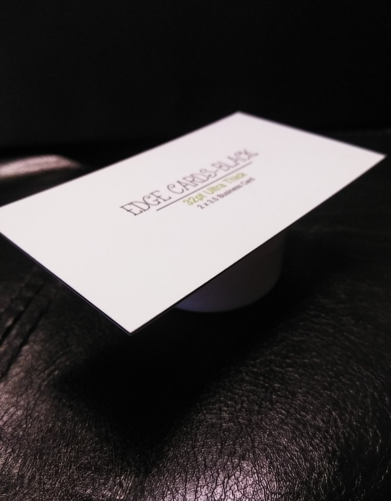 "Mile High DJ Supply 2"" X 3.5"" 32PT Uncoated Black EDGE Business Cards (500)"