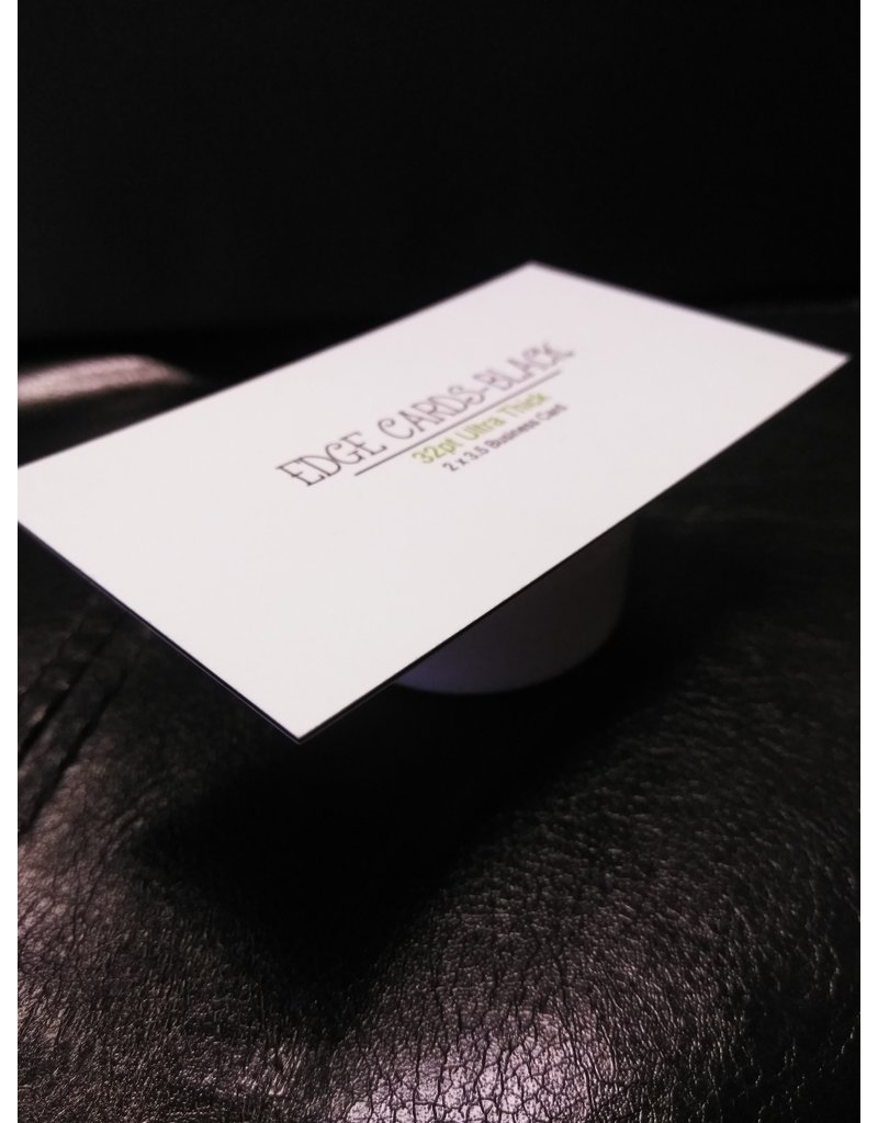 "2"" X 3.5"" 32PT Uncoated Black EDGE Business Cards (500)"