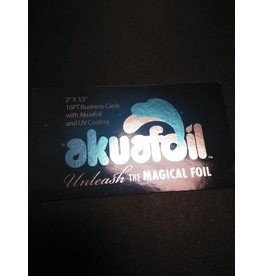 "2"" X 3.5"" 16PT Business Cards w/ Akuafoil w/ Spot UV on back only, Full UV on the front (500)"