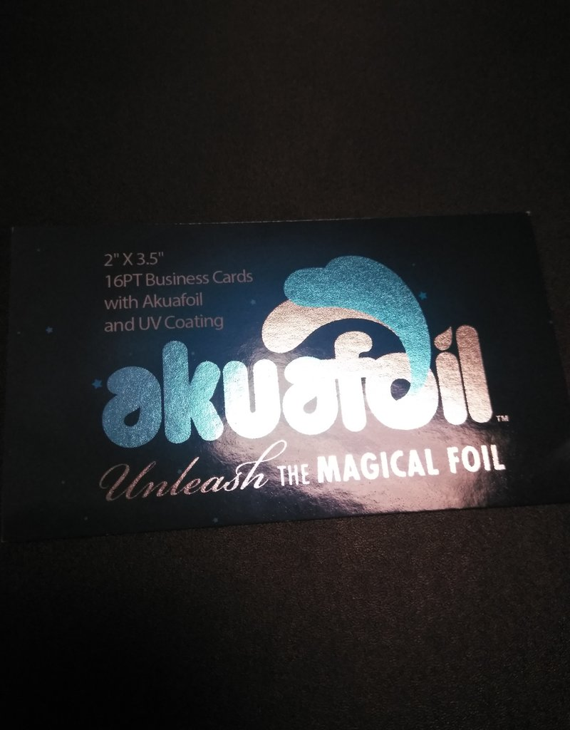"Mile High DJ Supply 2"" X 3.5"" 16PT Business Cards w/ Akuafoil w/ Spot UV on back only, Full UV on the front (500)"