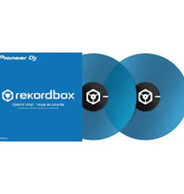 "12"" Blue Control Vinyl for Rekordbox DJ (Pair)- Pioneer DJ"