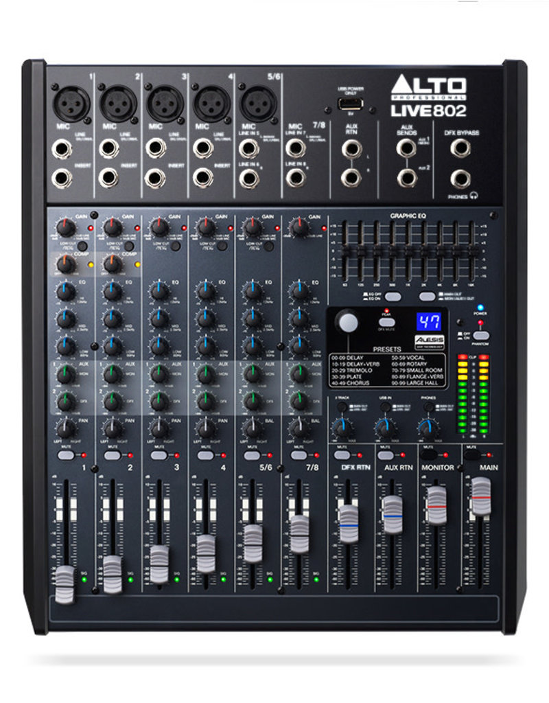 ***Pre Order*** Alto Live 802 Professional 8-Channel/2-Bus Mixer