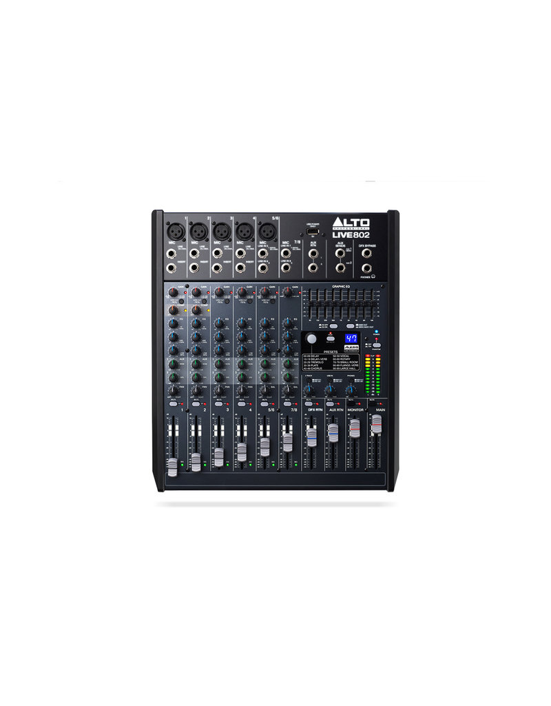 ***Limited Stock Shipping Mid July*** Alto Live 802 Professional 8-Channel/2-Bus Mixer