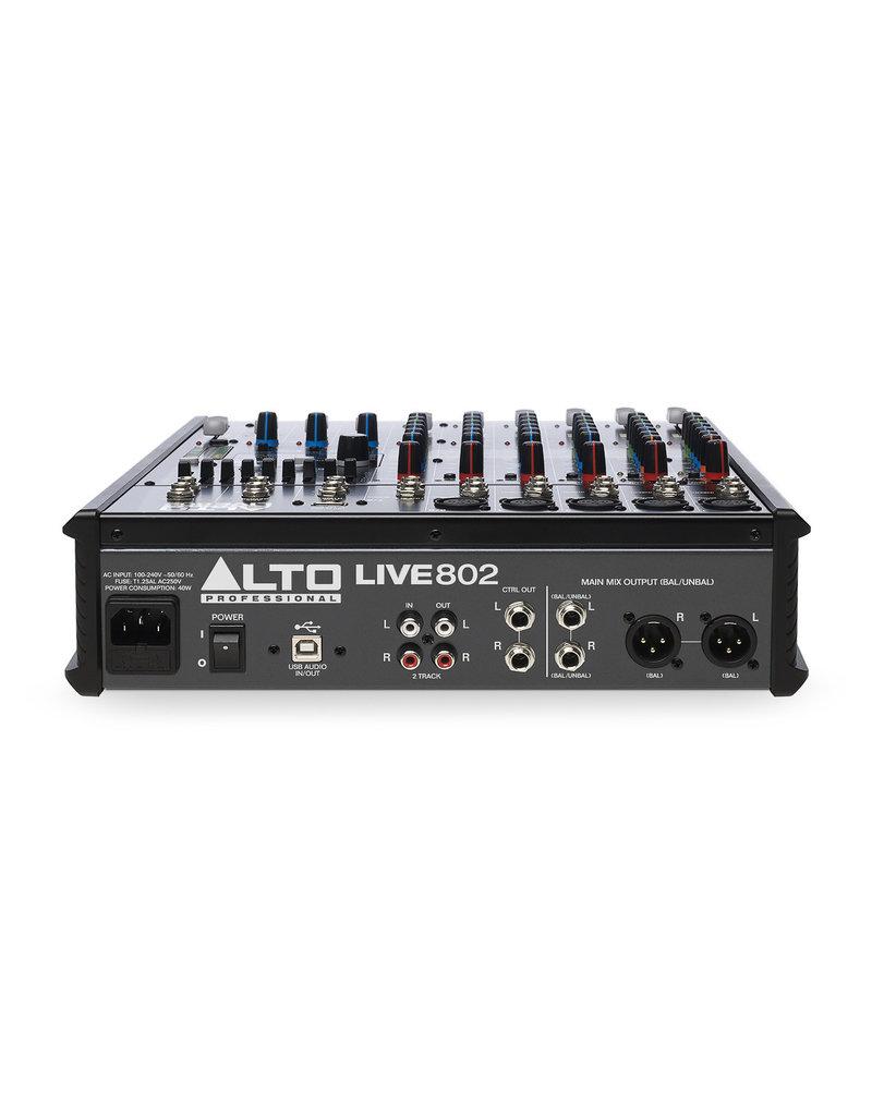 802 Professional 8-Channel/2-Bus Mixer: Alto Live  Series