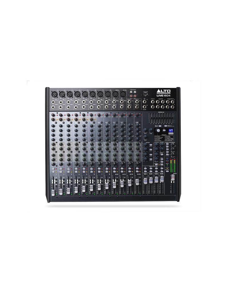 1604 Professional 16-Channel/4-Bus Mixer: Alto Live Series