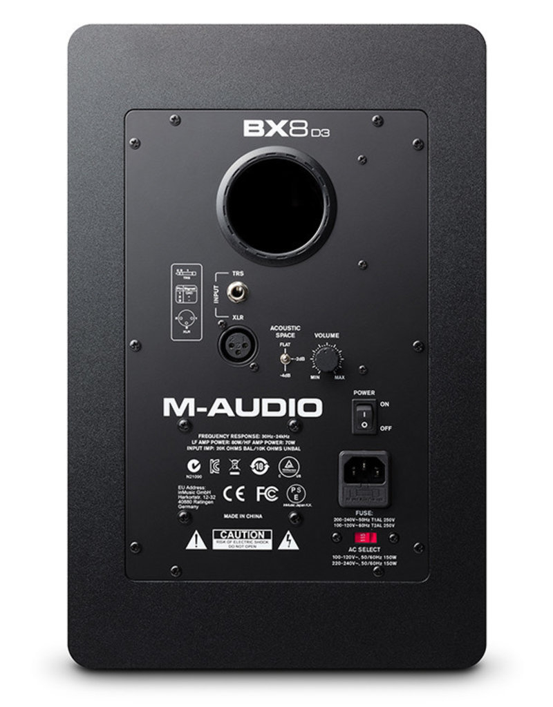 """BX8 D3 8"""" Powered Studio Reference Monitor(Single) - M-Audio"""