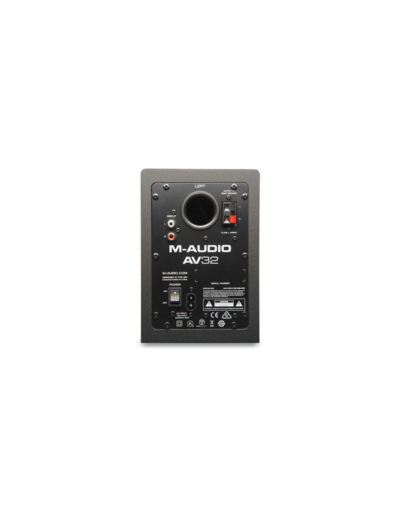 AV32 Compact Desktop Speakers (Pair) - M-Audio