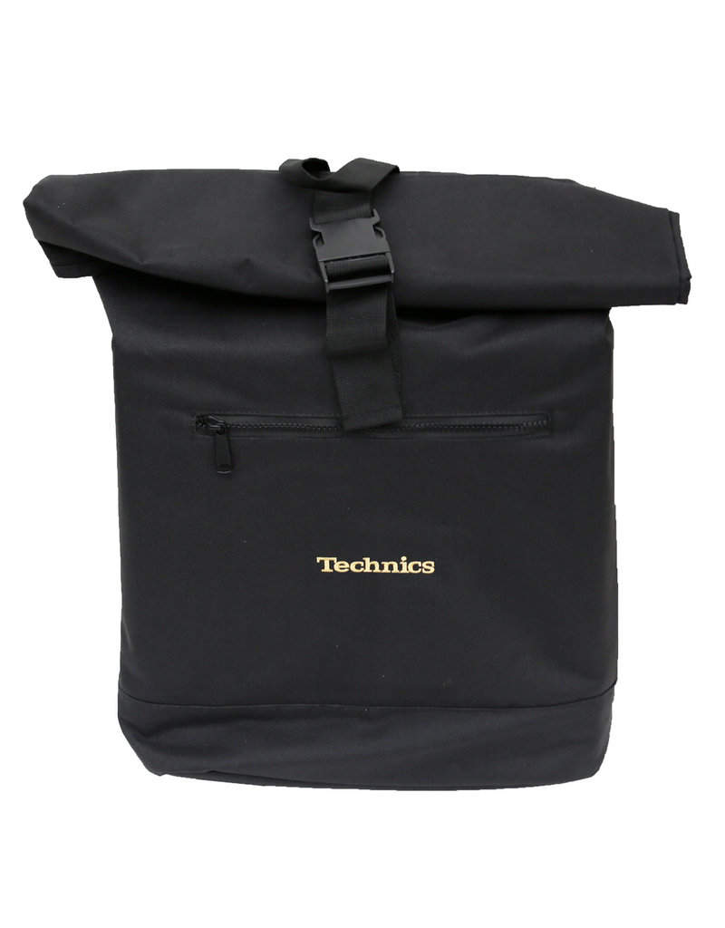 Technics Roll Top Back Pack - Gold Logo