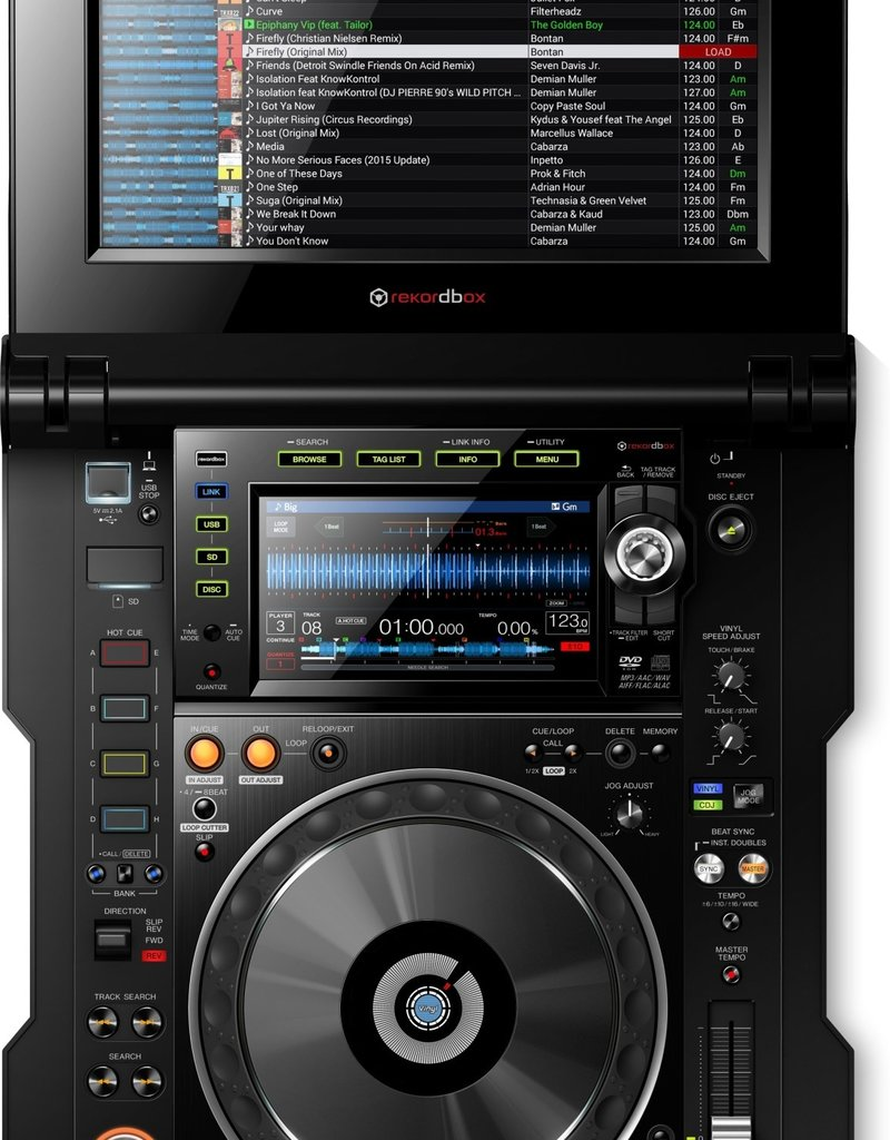 "CDJ-Tour1 Touring Model w/ Folding 13"" Touchscreen and Display Shade - Pioneer DJ"