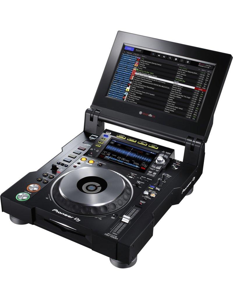 "CDJ-Tour1 Touring Model w/ Folding 13"" Touchscreen and Display Shade - Pioneer DJ"