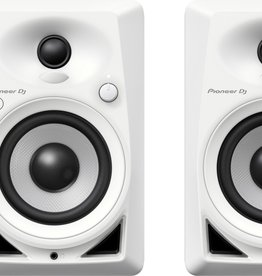 "Pioneer DJ DM-40BT White 4"" Desktop Monitor Speakers (pair) with Bluetooth"