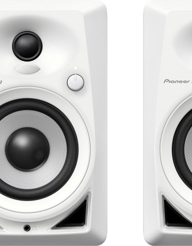 """Pioneer DJ DM-40BT White 4"""" Desktop Monitor Speakers (pair) with Bluetooth"""