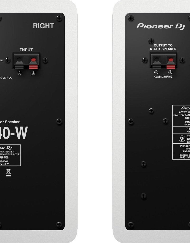 "Pioneer DJ DM-40 White 4"" Compact Active Monitor Speakers (Pair)"