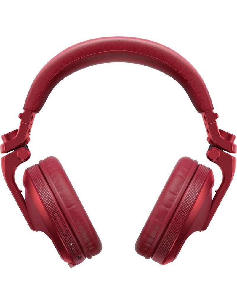 HDJ-X5BT-R Red Over-ear DJ headphones with Bluetooth® wireless technology - Pioneer DJ