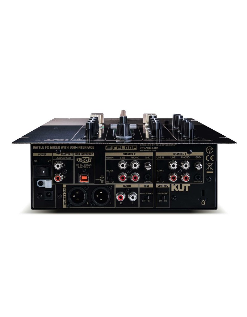 Reloop AMS-KUT 2+1 Channel DJ Battle Mixer w/ Digital Audio Architecture and Integrated Sound Colour Effects