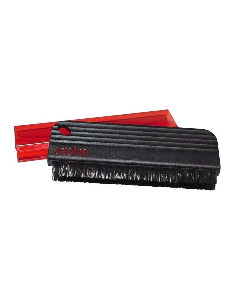 Ortofon Record Brush with Anti-Static Carbon Fiber Bristles and Red Sheath