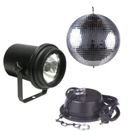 """ADJ ADJ M-500L 12"""" Mirror Ball Pack w/ A/C Motor, UL Pinspot"""