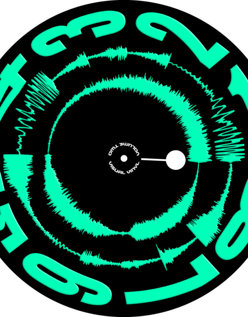 "VISUAL VINYL VOL. 2 - 12""  Green on Black Scratch Record"