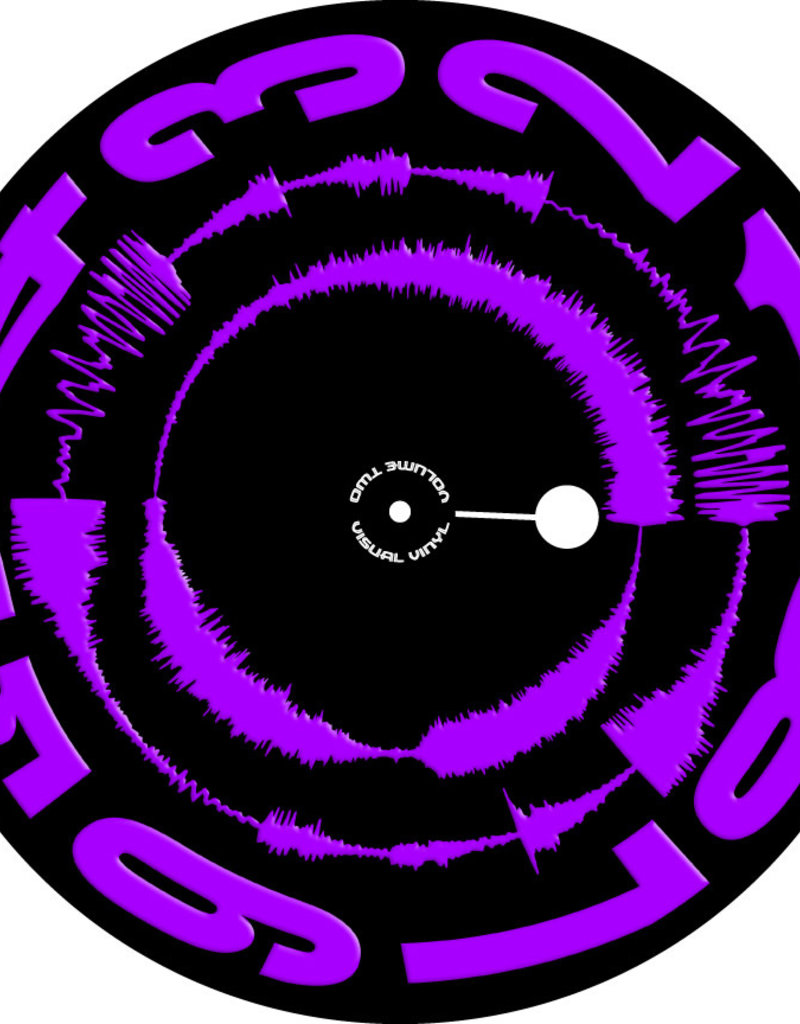 "VISUAL VINYL VOL. 2 - 12""  Purple on Black  Scratch Record"