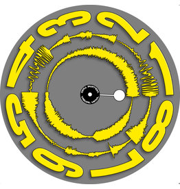 "VISUAL VINYL VOL. 2 - 12""  Yellow on Grey Scratch Record"